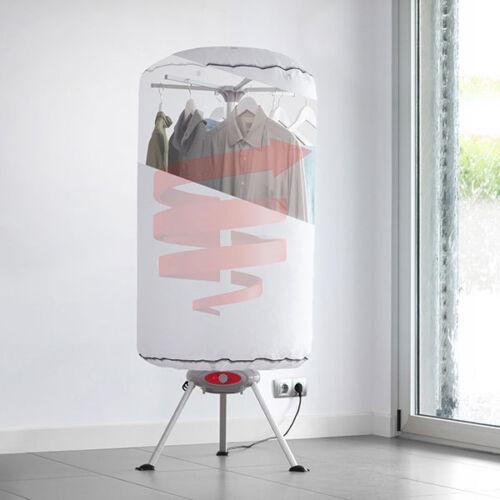 Sèche-Linge Séchoir à Linge Portable à Chaleur Soufflante 1000W Blanc Neuf