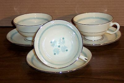 LOT OF 3 SETS  LENOX CHARMAINE CUPS AND SAUCERS   # C-512