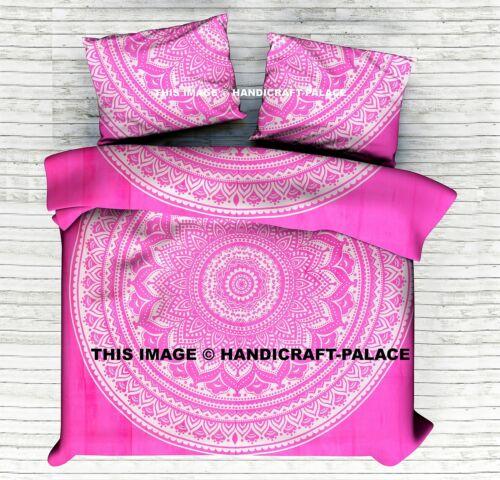 Queen Duvet Cover Set Hippie Bohemian Ombre Mandala Quilt Doona Indian Comforter