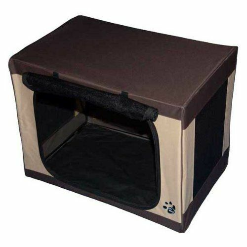 NEW    KENNEL For Small Dogs.Peter Gear Inc Travel-Lite Soft Crate in Sahara