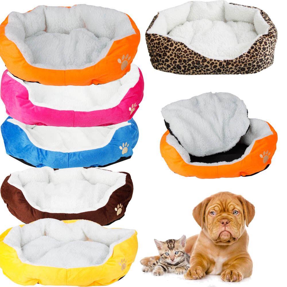 Small Medium Pet Dog Puppy Cat Soft Fleece Cozy Warm Nest Be