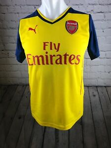new product 52c27 8a0ac Details about Arsenal Football Shirt Size Childs 32-34 Puma Away Kit 2014  2015 Bnwts