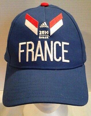 France Soccer 2014 FIFA World Cup Brazil Strapback Cap Hat Adidas