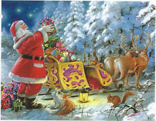 Gilberto Marchi Santa's Sleigh Christmas Toy 500 pc Bagged Boxless Jigsaw Puzzle