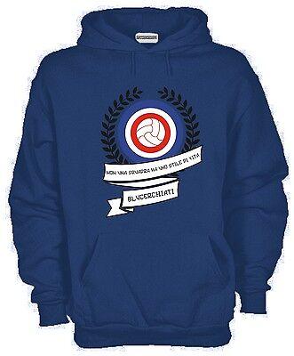 Felpa LECCE 1908 Ultrà Ultras Supporter Colore Blue Con Cappuccio E Tasca