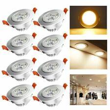 8X Einbau Strahler Beleuchtung Deckenbeleuchtung Silber Matt Kaltweiß Wohnzimmer