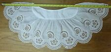 Antique Broderie Anglaise Lace Baby Christening Cape Shawl Collar Cutwork