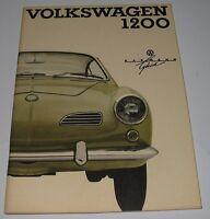 Betriebsanleitung VW Karmann Ghia 1200 Bedienungsanleitung Handbuch August 1964!