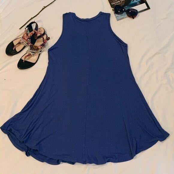 Luxe Periwinkle Muscle Tank Swing Dress - image 6
