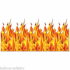 Halloween Party Scene Setter Room Roll HELLFIRE FLAMES Wall Backdrop Decoration