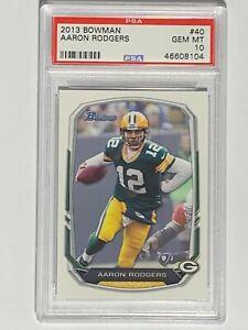 2013-Bowman-40-Card-AARON-RODGERS-Green-Bay-Packers-PSA-GEM-MINT-10