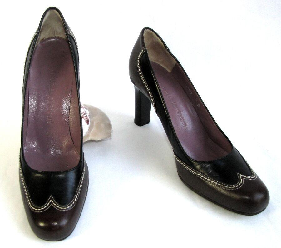 CHARLES JOURDAN Escarpins talons 8 cm tout cuir noir ETAT et marron 37 EXCELLENT ETAT noir c95bd1