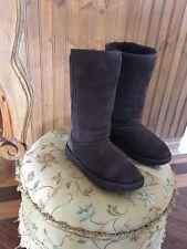 "Ugg AUSTRALIA BIG KIDS BROWN TALL CLASSIC  Boots ""EVA"" Size 6 Sheepskin 5229Y"