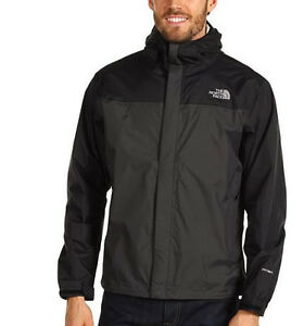 the north face venture jacket men asphalt grey black medium waterproof hyvent ebay. Black Bedroom Furniture Sets. Home Design Ideas