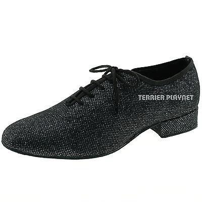 TPS Men/'s Black Glitter Fabric Latin Ballroom Custom-made Dance Shoes M58