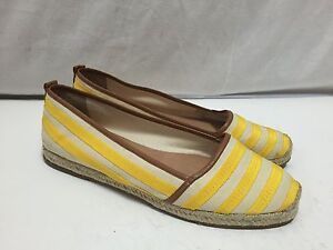 Antonio-Melani-Ballet-Flats-Canvas-Striped-Espradilles-Yellow-Teegan-10-Slip-Ons