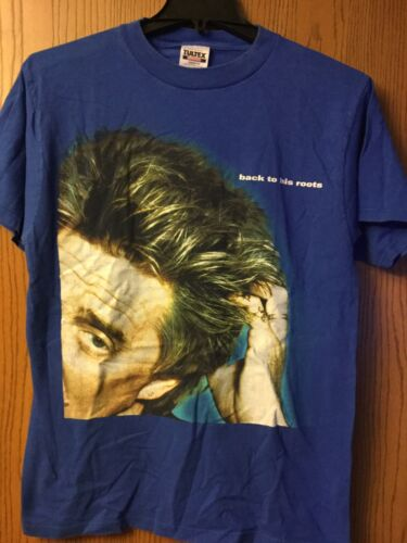 """Rod Stewart. """"Back To His Roots"""" Shirt.  Blue.   L"""