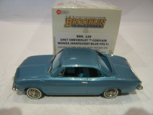 1 43 BROOKLIN 139 CHEVROLET CORVAIR MONZA 1967 blu MET