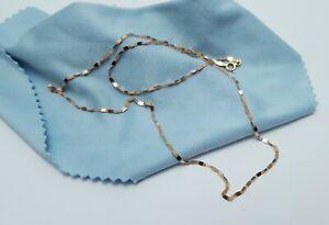 Gorgeous-18K-Karat-Solid-Rose-Gold-Designer-Link-Chain-Necklace-Nice