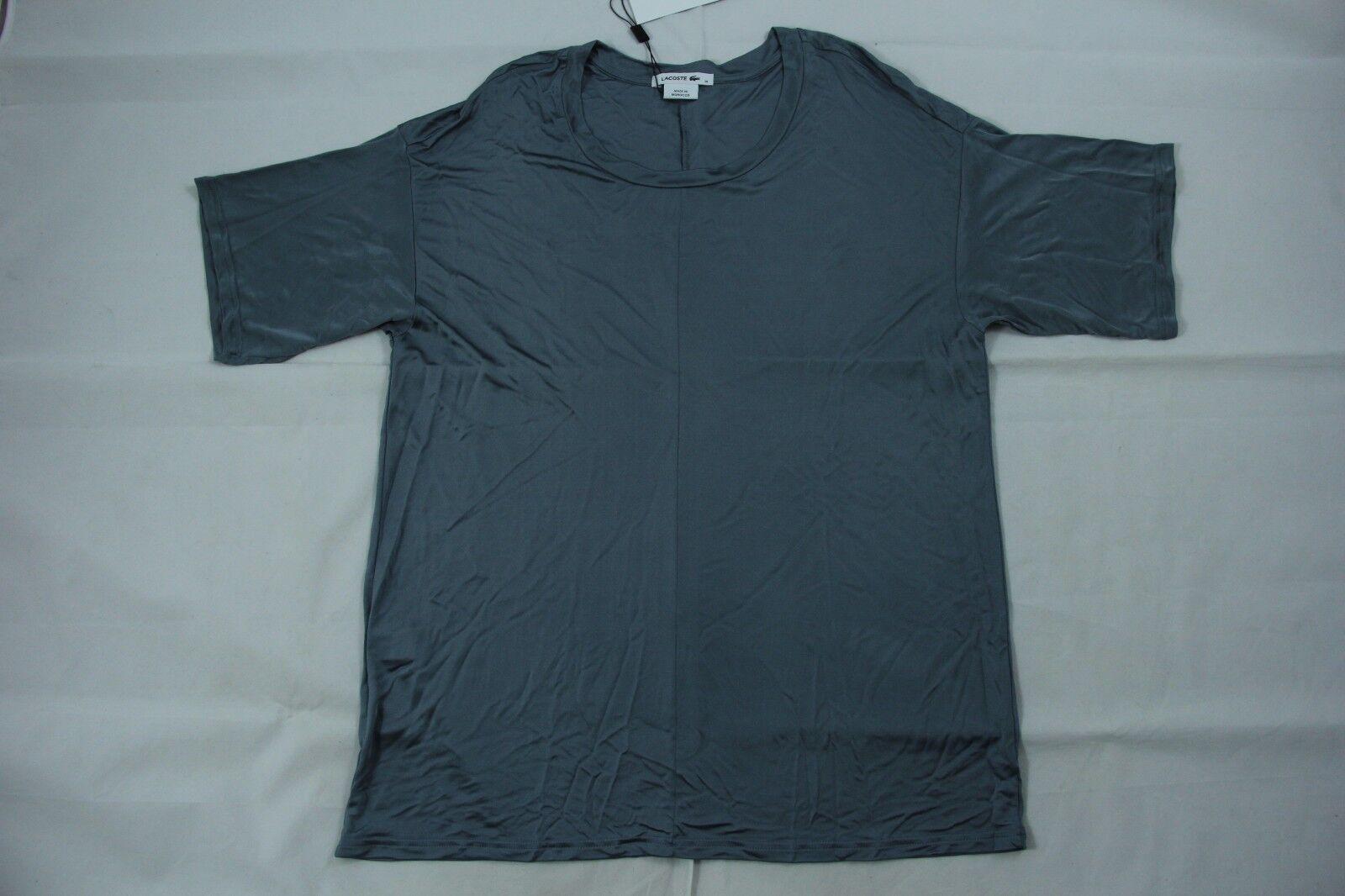 Lacoste Viscose T Shirt Titane Blau Farbe Sz. 6  TF6585 BNWT Authentic