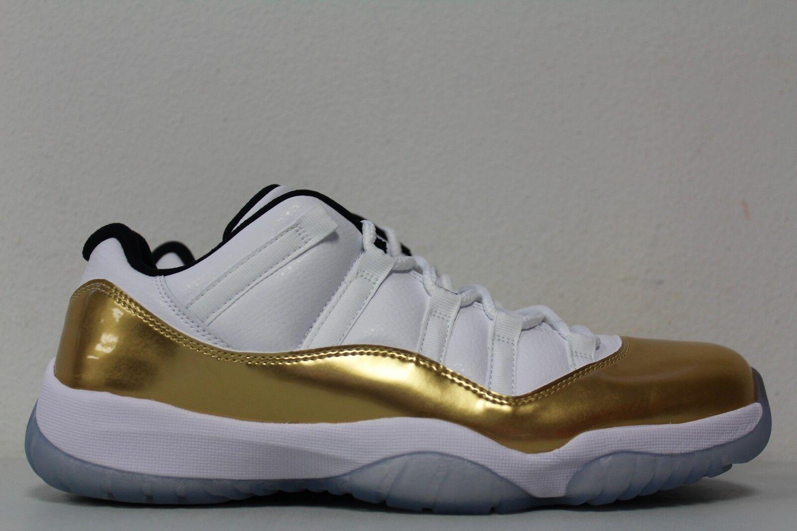 da1ad822d696 Nike Mens Mens Mens Air Jordan 11 Retro Low Sz 10.5 Closing Ceremony White  Gold 528895