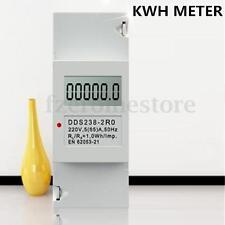 DDS238-2 Digital 230V 5(32)A DIN-rail Kilowatt Hour kwh Meter LCD display HOT