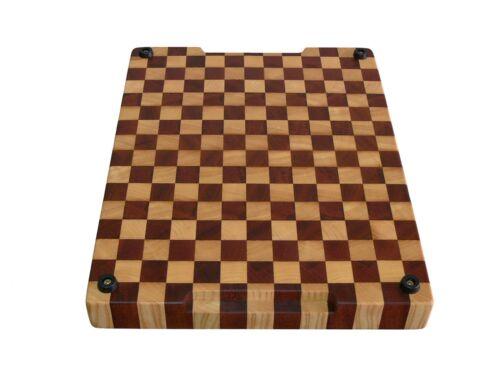 Chopping Board Wood Cutting Board End Grain with Feet Butcher Block Handmade