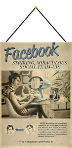 Advertising-Facebook-Woman-Sign-with-Cord-Metal-Tin-7-7-8x11-13-16in-FA0234-K