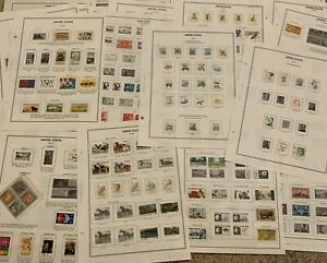 AMAZING US STAMP LOT ON HARRIS ALBUM PAGES, GREAT GIFT IDEA FOR GRANDPA OR DAD