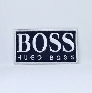 Hugo Boss Brand Badge Iron Sew on Embroidered Patch#black