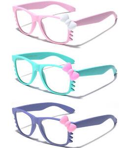 Hello-Kitty-Women-Ladies-Sunglasses-Clear-Lens-Non-Prescription-Eye-Glasses