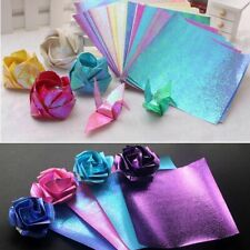50pcs Glitter Paper Sparkling Shiny Lucky Bird Boat Animal Star Colorful Origami