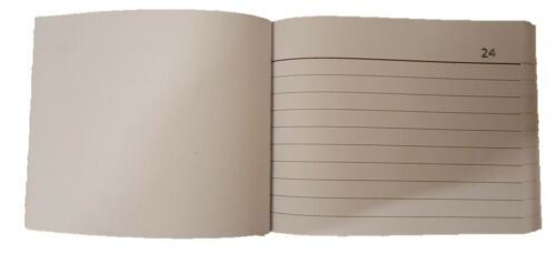 Blank Half Size Duplicate Receipt Book Ruled Number 1-80 NO CARBON REQD loc.D24