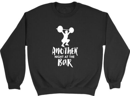 Another Night at the Bar Mens Womens Ladies Funny Weight Lifting Jumper