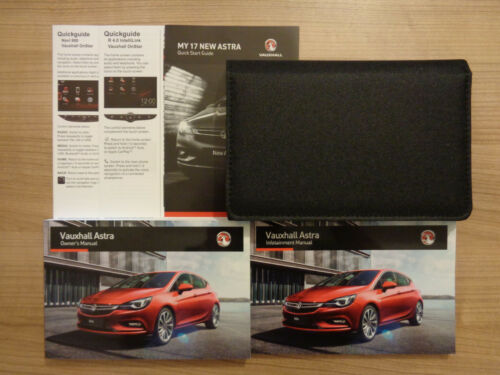 Vauxhall Astra Owners Handbook//Manual and Pack 16-18