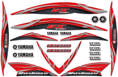 Decal Kit for 05-09 Yamaha VX110 Jetski Graphic Waverunner VX 1100 Sport RED