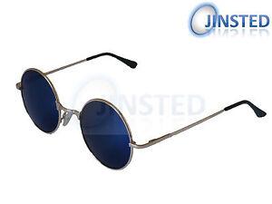 Steampunk-Teashades-Vintage-Sunglasses-Circle-Round-Blue-Mirrored-Gold-SP001