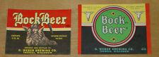 2 beer labels, Theresa, Wisconsin, G. Weber Brewing, Bock Beer, 12 oz., IRTP