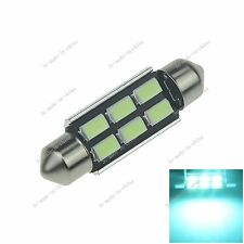 1X Ice Blue 41MM 6 5630 Canbus Error Free Festoon Map LED Light Roof Bulb I317