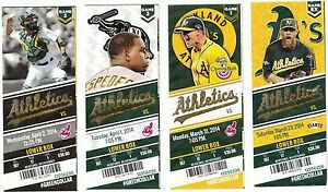 2014-OAKLAND-A-039-S-ATHLETICS-SEASON-TICKET-STUB-SET-DONALDSON-ALL-82-HOME-GAMES
