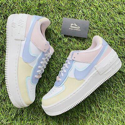 Nike Air Force 1 Shadow White Glacier Blue Ghost (W