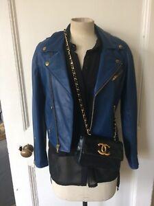 Leather Blue 8 36 Jacket Maje 1 6 maat Bikers qTdd5
