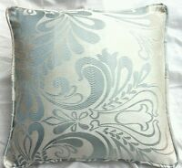 """cushion   Cover laura ashley fitzroy duck egg fabric  piped  16"""""""