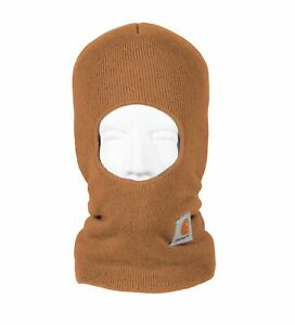 Carhartt-Acrylic-Face-Mask-Knit-Mens-Stocking-Cap-Winter-Hat-Sock-Facemask-Brown