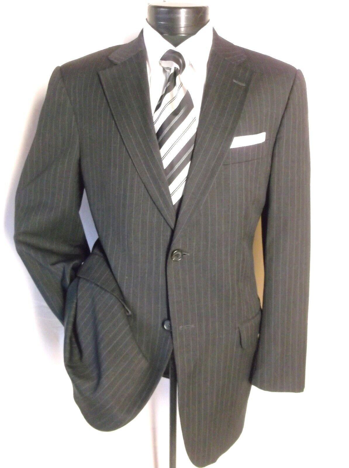 Ermenegildo Zegna soft Suit grau Striped 2 Button Größe 40R Pants 35