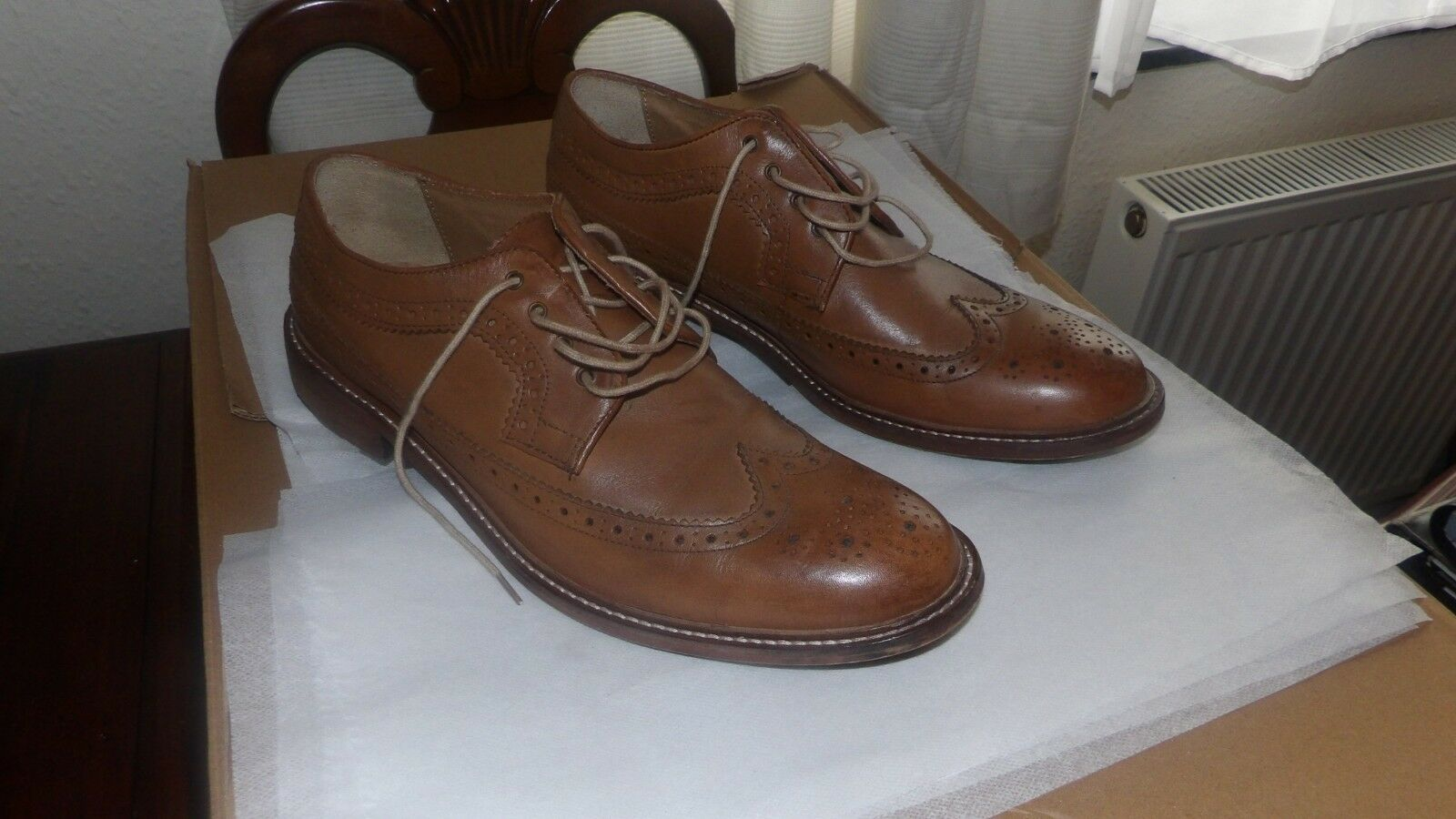 Brogue shoes Brown Leather, Burtons, UK Size 11