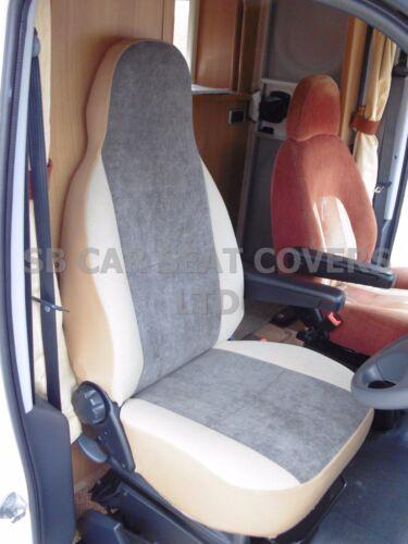 I WEICH MOKKA BRAUN passend für Ford Transit 2006 Wohnmobil Sitzbezüge
