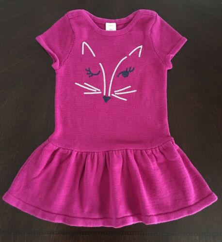 NWT Gymboree Girl Back To Blooms Berry Fox Sweater Dress /& Tights Outfit 4 5 8