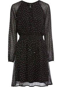 Kleid mit Schnürung Gr. 46 Schwarz Mini Cocktailkleid ...