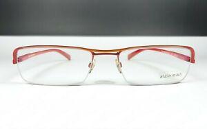 Alain Mikli Paris Glasses A0417-03 Bicolor Angular Half Rim Frame Made IN France